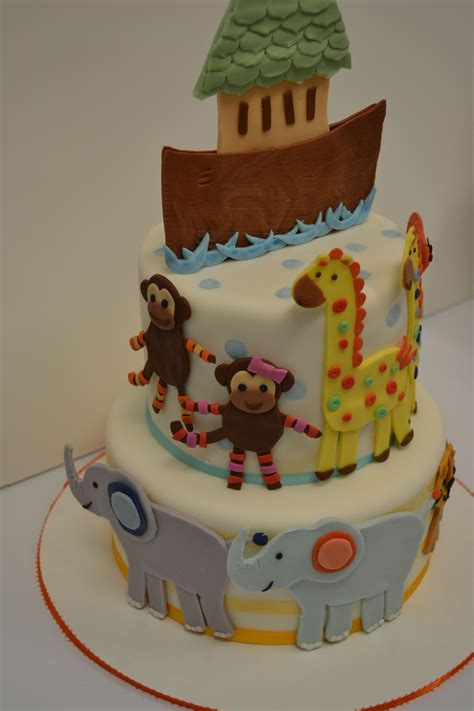 Noah Ark Baby Shower Theme by Noah S Ark Baby Shower Cake Cakecentral