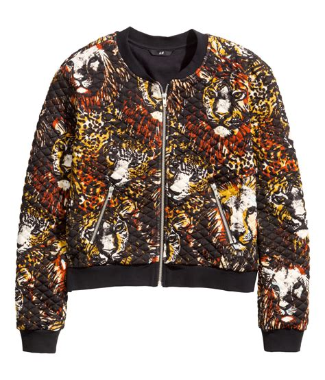 H And M Quilted Jacket by H M Quilted Bomber Jacket In Multicolor Black Lyst