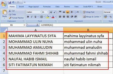 cara membuat huruf kapital di excell cara merubah teks huruf kapital menjadi huruf kecil dan