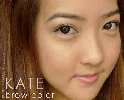 eyebrow color how to lighten your brows with kate eyebrow color mascara