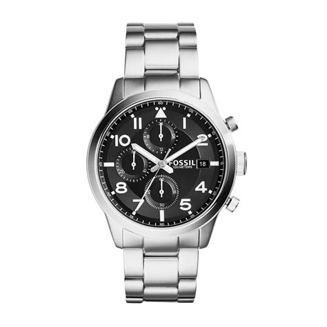 Jam Pria Fossil Crono On Silver Jual Fossil Daily Chronograph Fs5137 Silver Jam Tangan