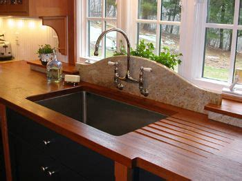 Cleaning Wood Countertops by Brown Teak Wood Countertop Kitchen Counters Diy