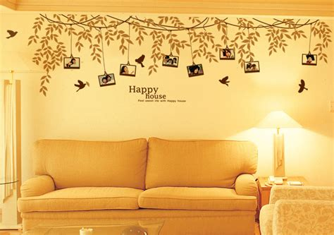 Tree Sticker Wall Decor photo frame tree wall decals amp birds vinyl decor stickers