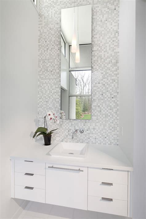 Floor And Decor Porcelain Tile Narrow Mirror With Neutral Colors Bathroom Traditional And