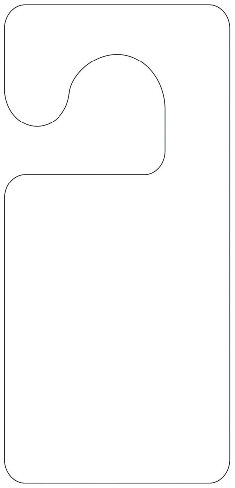 door hanging template printable door hanger template scout