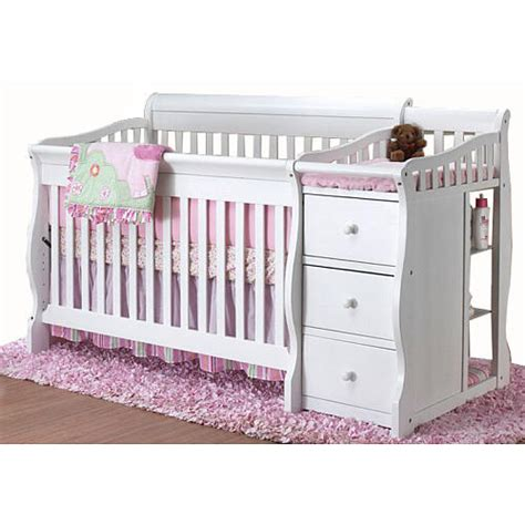 Sorelle Princeton 4 In 1 Convertible Crib N Changer White Crib And Changing Table