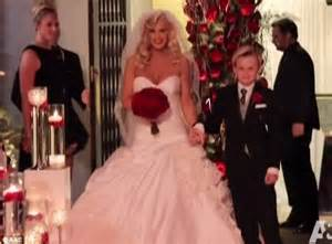 Here comes the bride and son last wednesday mccarthy s son with ex