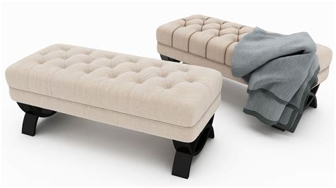 christopher home scarlette tufted fabric ottoman bench christopher home scarlette tufted fabric ottoman