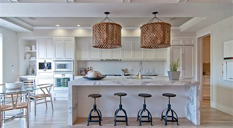 contemporary pendant lights for kitchen island oversized pendants shining a spotlight on the design