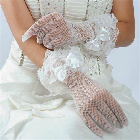 ivory ladies short bridal wedding gloves wrist length