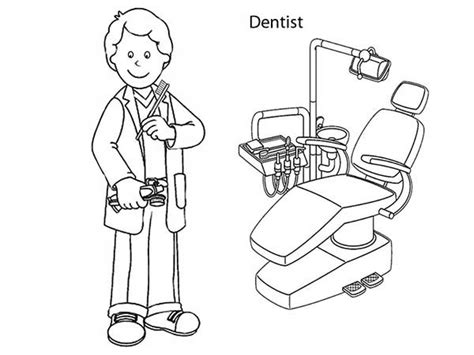 dentist coloring pages bing images