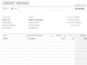 Credit Memo Template by Credit Memo Template Accounting Templates