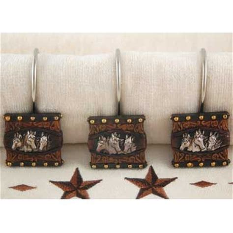 western shower curtain hooks western horses shower curtain hooks amber room pinterest