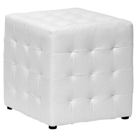 white leather cube ottoman 25 white leather ottomans square rectangle