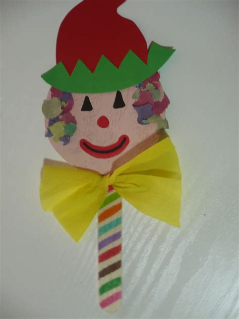 clown crafts for craft stick clown puppet family crafts