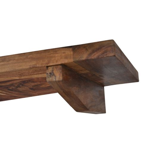 cayenne sheesham wood wall hanging shelf by market finds