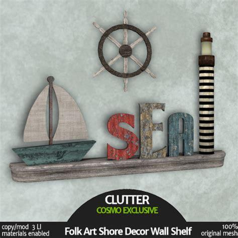 Folk Art Home Decor by Clutter Home Folk Art Shore Decor Wall Shelf Love To