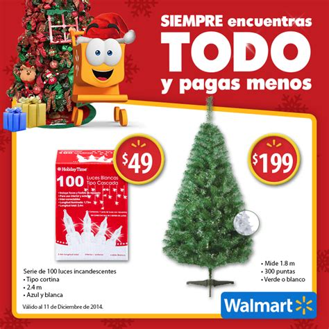 costo de arbol de navidad 193 rbol de navidad de 1 80 metros a 199 y serie de luces navide 241 as a 49 en walmart