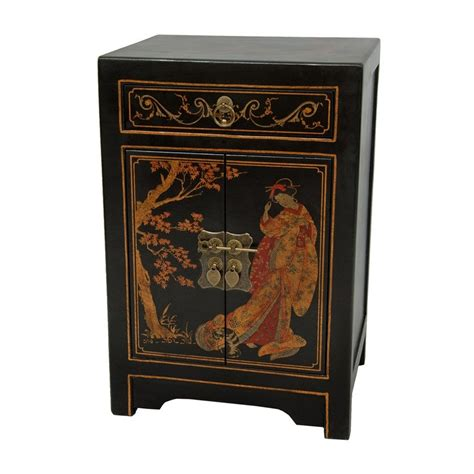 japanese black lacquer cabinet shop oriental furniture lacquer black lacquer elm