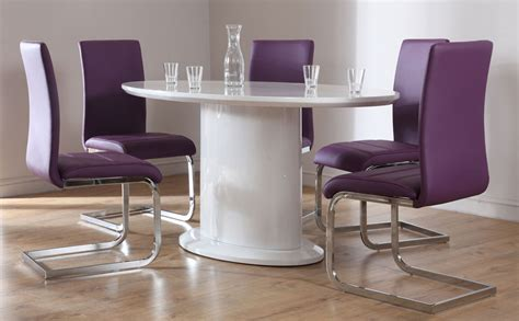 Purple Dining Room Set by Monaco Perth Oval High Gloss Dining Set Purple Only 163