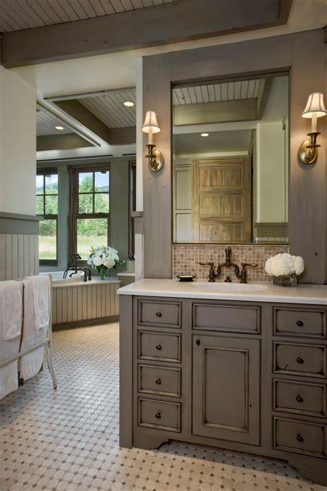 distressed bathroom cabinets distressed bathroom cabinets bathroom eclectic with americana cornice diamond tile
