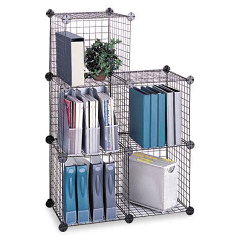 safco products shelving wire cube 5 st set of 5 model