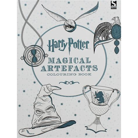 harry potter coloring book the works harry potter magical artefacts colouring book by warner