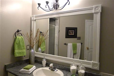 White Vanity Mirror Diy Bathroom Mirror Frame Ideas Diy Bathroom Mirror Ideas