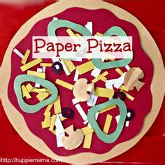 How To Make Paper Pizza - 1000 ideas about preschool food crafts on