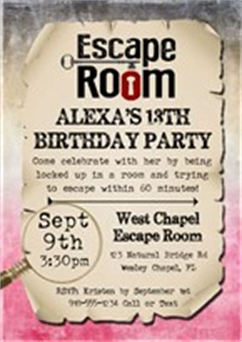 Kids Birthday Party Invitations Baby Shower Invitations Note Cards Free Escape Room Invitation Template