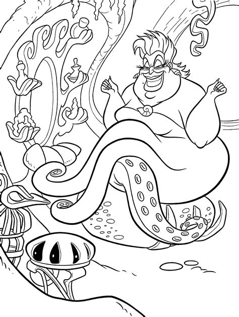 the little mermaid crab coloring pages
