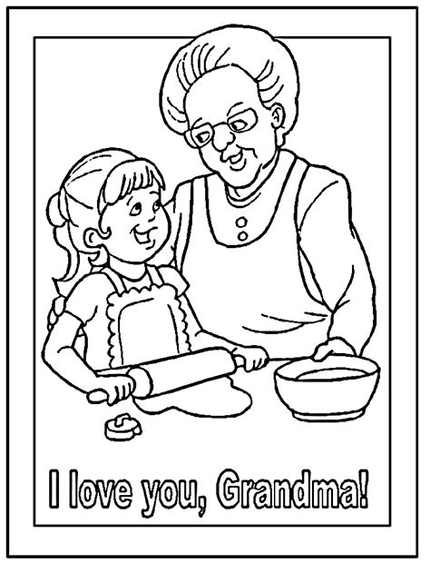 Grandmother Coloring Pages coloring pages coloringpagesabc