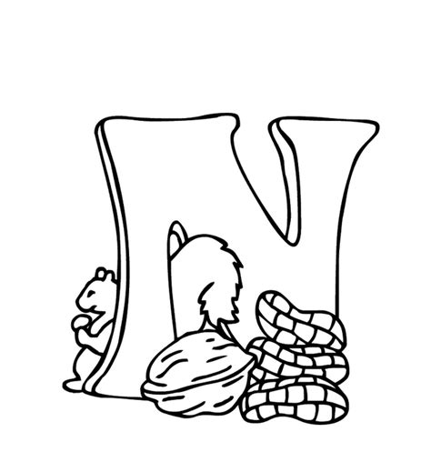 alphabet coloring pages n free alphabet coloring pages n is nuts alphabet coloring