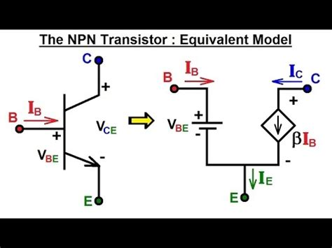 transistor equivalent model electrical engineering ch 3 circuit analysis 33 of 37 npn transistor equivalent model