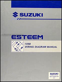 how to download repair manuals 1998 suzuki esteem transmission control 1997 suzuki esteem repair shop manual supplement original