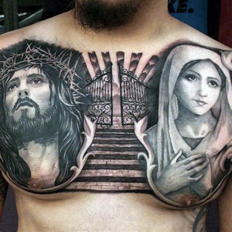 religious chest tattoos for men religious chest tattoos designs ideas and meaning