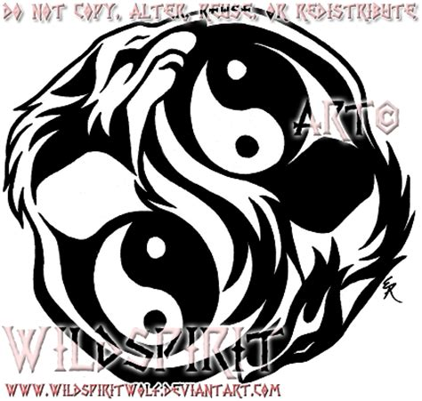 dual yin yang wolves tattoo by wildspiritwolf on deviantart