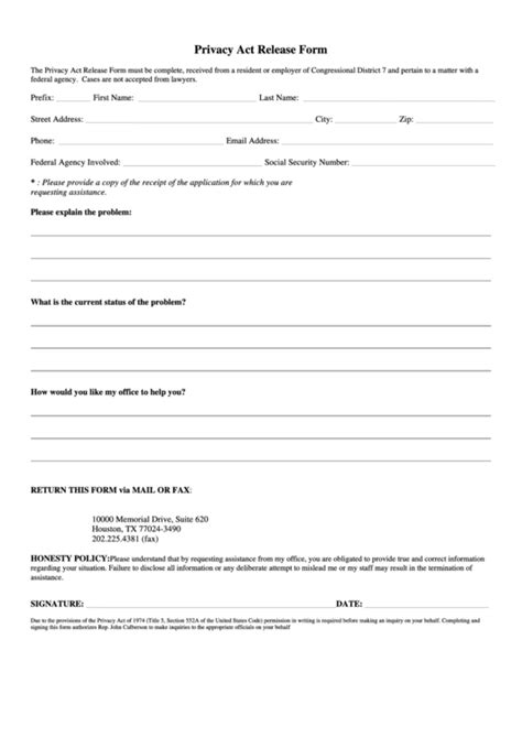 privacy release form template top 10 privacy release form templates free to in