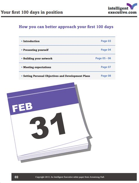 100 day plan template free 100 day plan template 4 free pdf documents