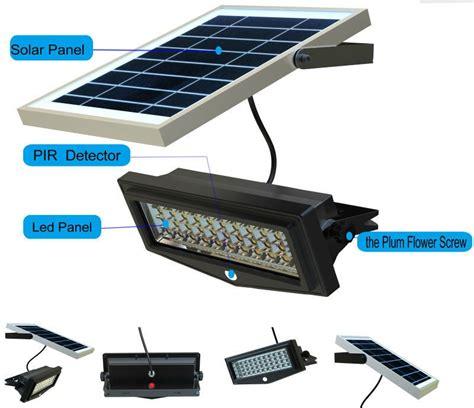 outdoor solar panel lights solar panel outdoor led solar motion sensor lights pir