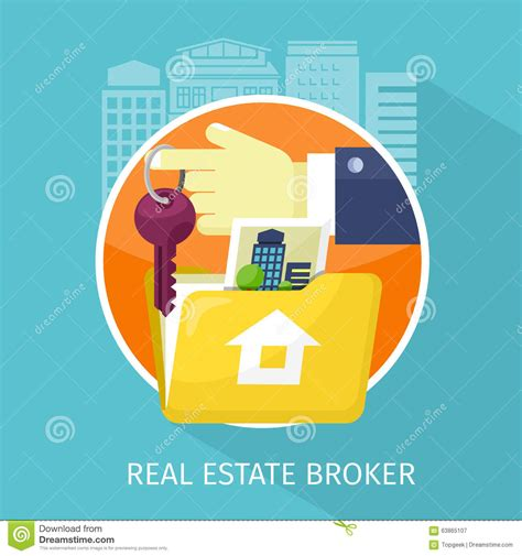 using a broker to buy a house real estate broker cottage for sale vector illustration cartoondealer com 83386356