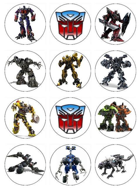 Cupcake Toppers Karakter Tema Bumblebee Transformers transformers edible cupcake toppers 12 transformers edible images for cupcakes cookies cake
