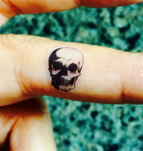 5 halloween skull temporary tattoo tiny fake tattoos