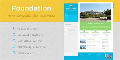 foundation templates 20 free and premium corporate html css templates