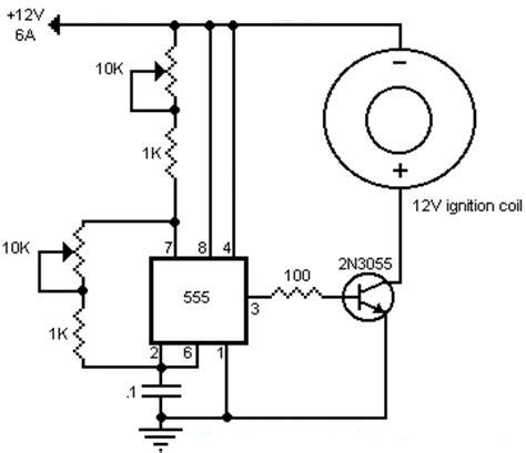 2n3055 transistor tesla coil ignition coil driver