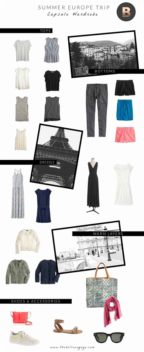 Europe Travel Wardrobe by Europe Capsule Wardrobe The Voyage