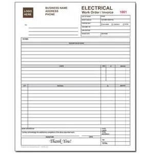 work order receipt template product details designsnprint
