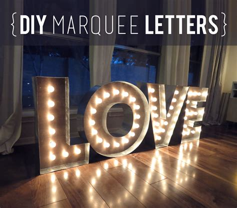 diy wood metal marquee letters weddingbee