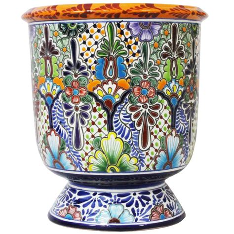 Mexican Planters Large by Talavera Planters Collection Talavera Planter Tp032