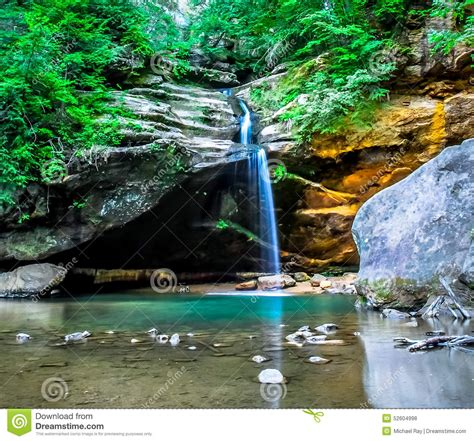 grafix by dezign logan ohio old mans cave lower falls stock photo image 52604998